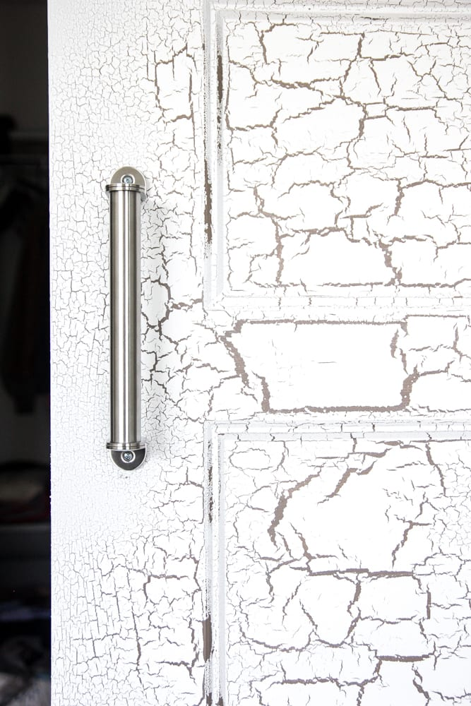 Adding Pulls to the Barn Doors | blesserhouse.com - How to add door handles and a lock to sliding barn doors.