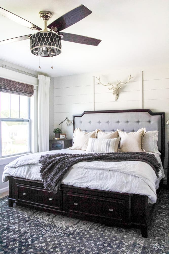 Rustic Modern Master Bedroom Reveal   Sources   blesserhouse com   A plain  white. Rustic Modern Master Bedroom Reveal and Sources   Bless er House
