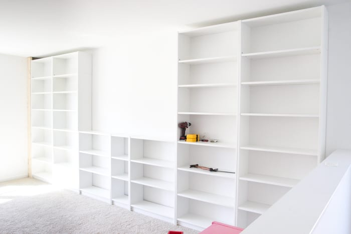 DIY Built Ins From IKEA Bookcases ORC Week Blesser House - Diy billy bookcase