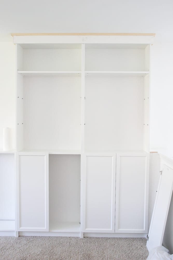DIY Built Ins From IKEA Billy Bookcases + One Room Challenge Week 2 |  Blesserhouse.