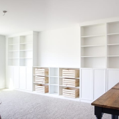DIY Built Ins from IKEA Bookcases + ORC Week 2
