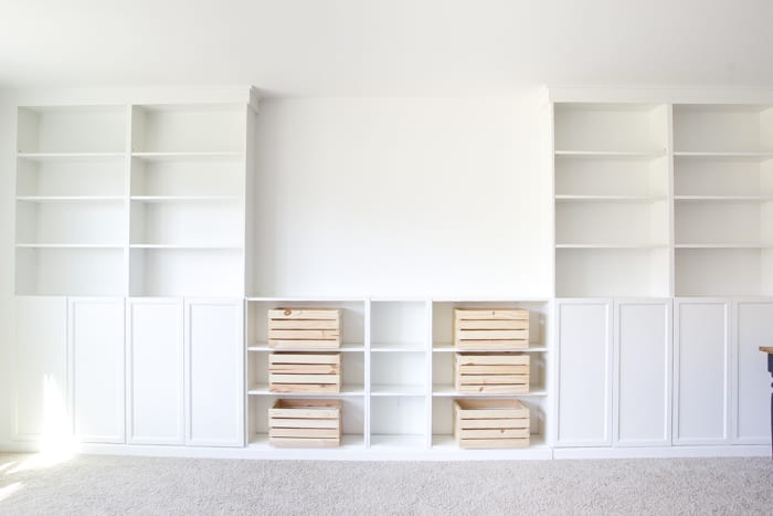 Diy Built Ins From Ikea Billy Bookcases One Room Challenge Week 2 Blesserhouse