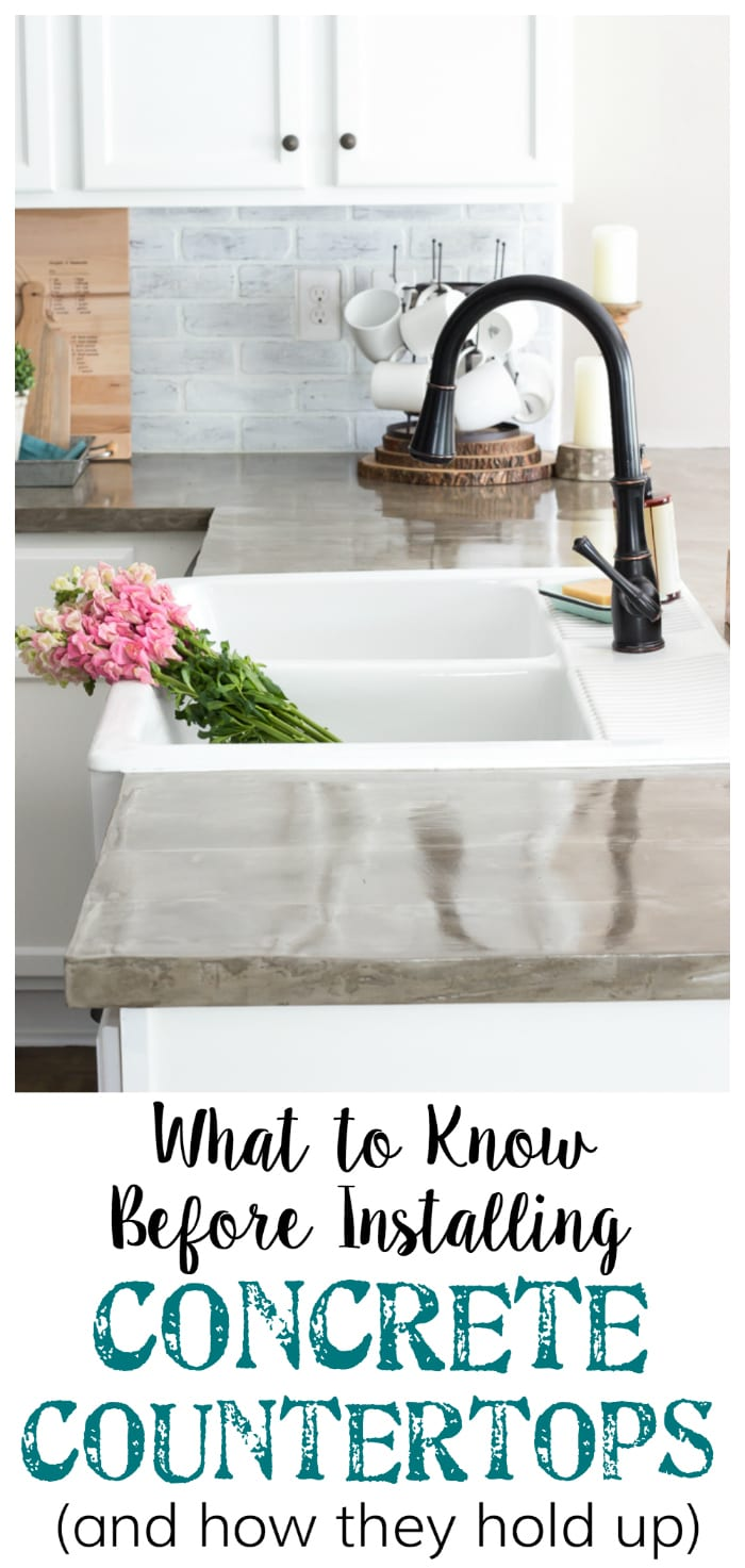 The Good, Bad, and Ugly of Concrete Countertops | blesserhouse.com - What to know before installing concrete countertops - the pros and cons, how they hold up over time, and how to install them for an inexpensive update.