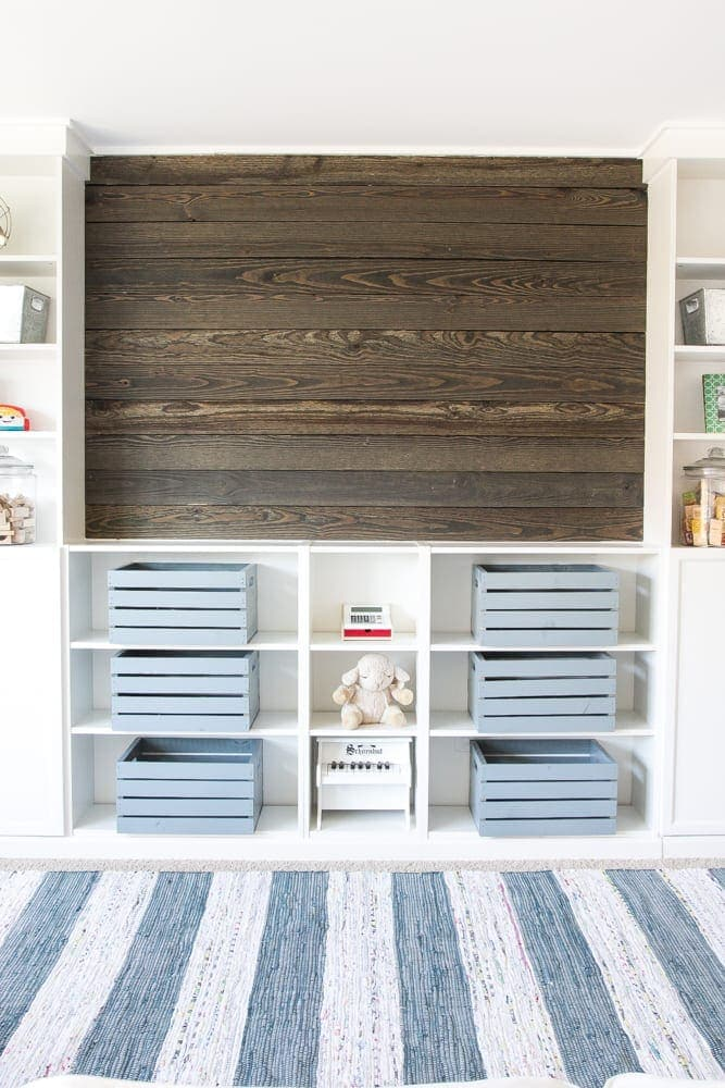 DIY Reclaimed Wood Plank Focal Wall | blesserhouse.com - How to install a reclaimed wood plank focal wall in under an hour to create contrast, texture, and character in any space.