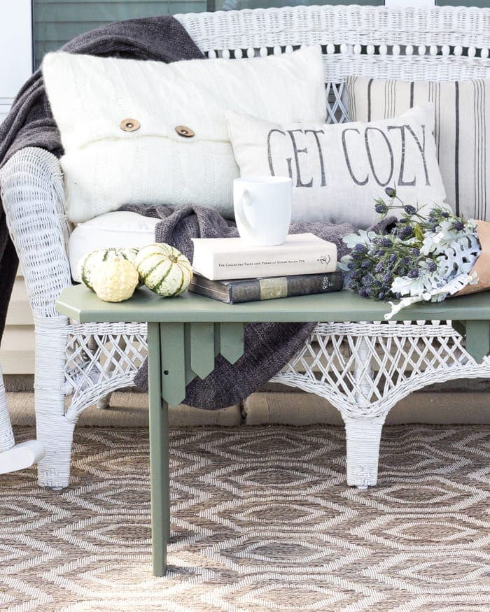 Repurposed Bench Coffee Table Makeover