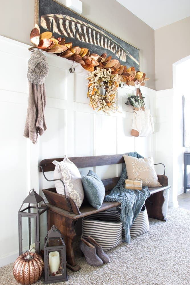 Rustic Glam Fall Entryway Bless Er House