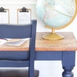 Repurposed Kitchen Table Desks Fusion Midnight Blue (10 of 13)