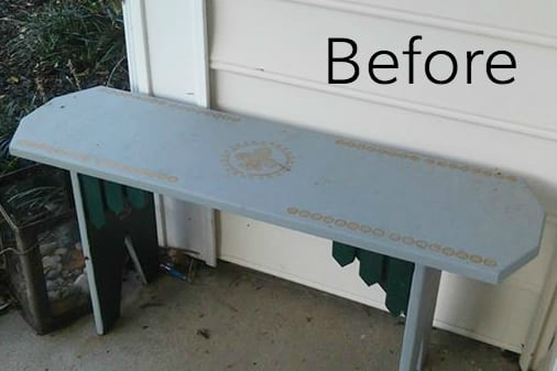 Repurposed Bench Coffee Table | Blesserhouse.com   A Repurposed Bench Coffee  Table Gets A