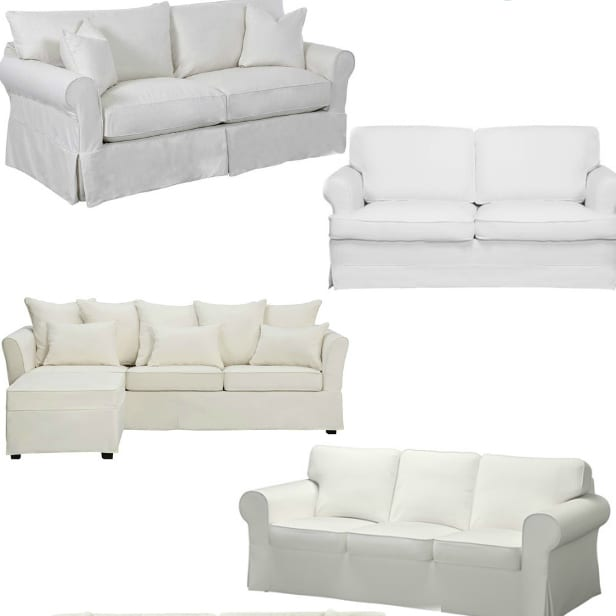 White Slipcovered Sofas