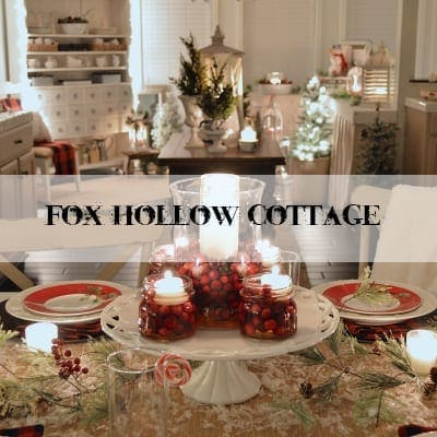Christmas Lights Night Tour 2016 | blesserhouse.com - A candlelight Christmas home tour with budget-friendly ideas and printables to decorate with cozy farmhouse style for the holidays.