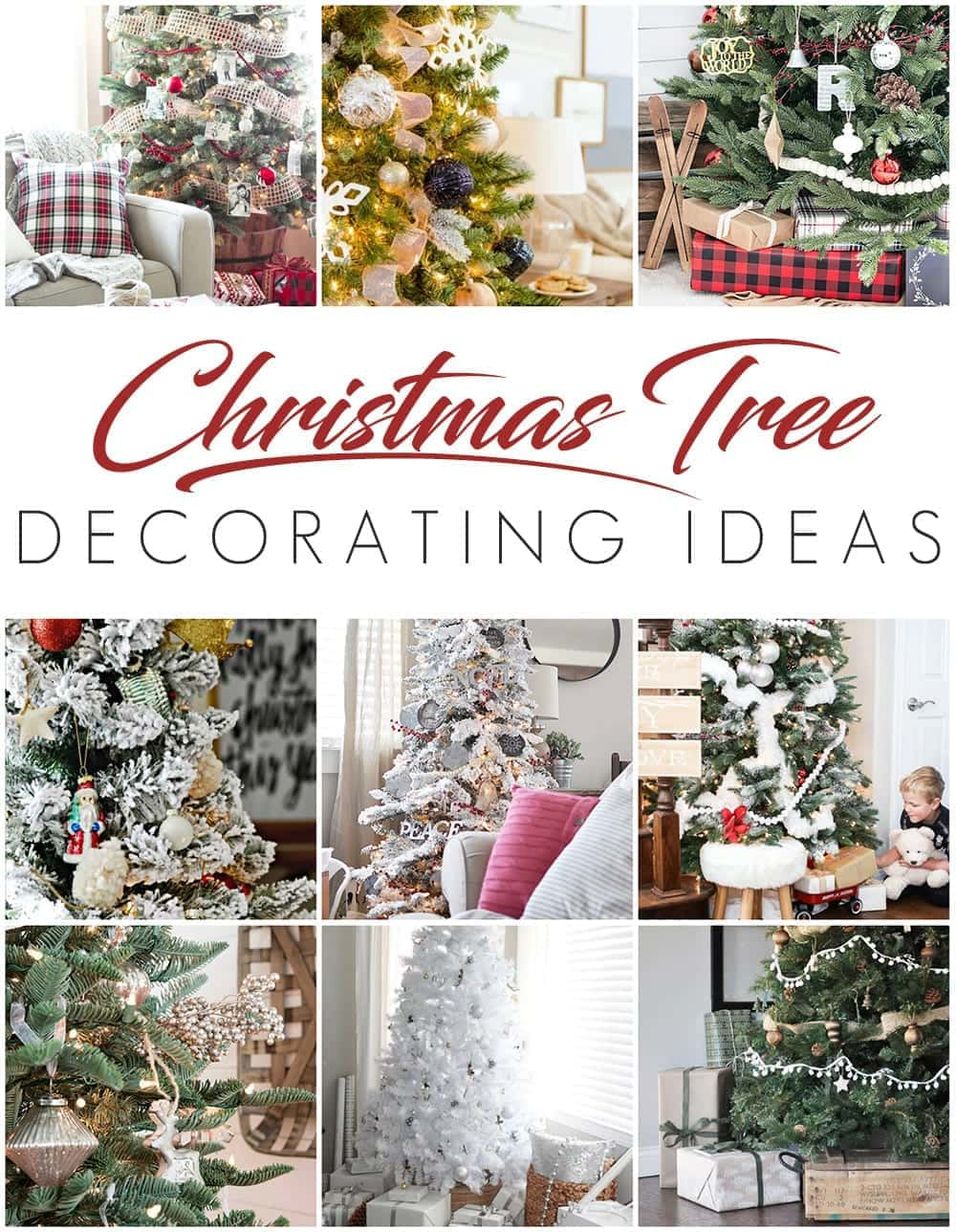 how to decorate a designer christmas tree on the cheap blesserhousecom how - Ways To Decorate A Christmas Tree