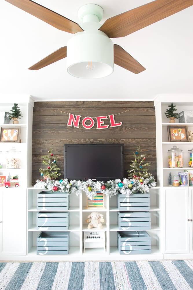 Whimsical Retro Christmas Playroom | Blesserhouse.com   How To Decorate  With A Whimsical Retro