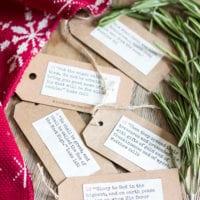 Christmas Entryway Tour + Advent Scripture Printables
