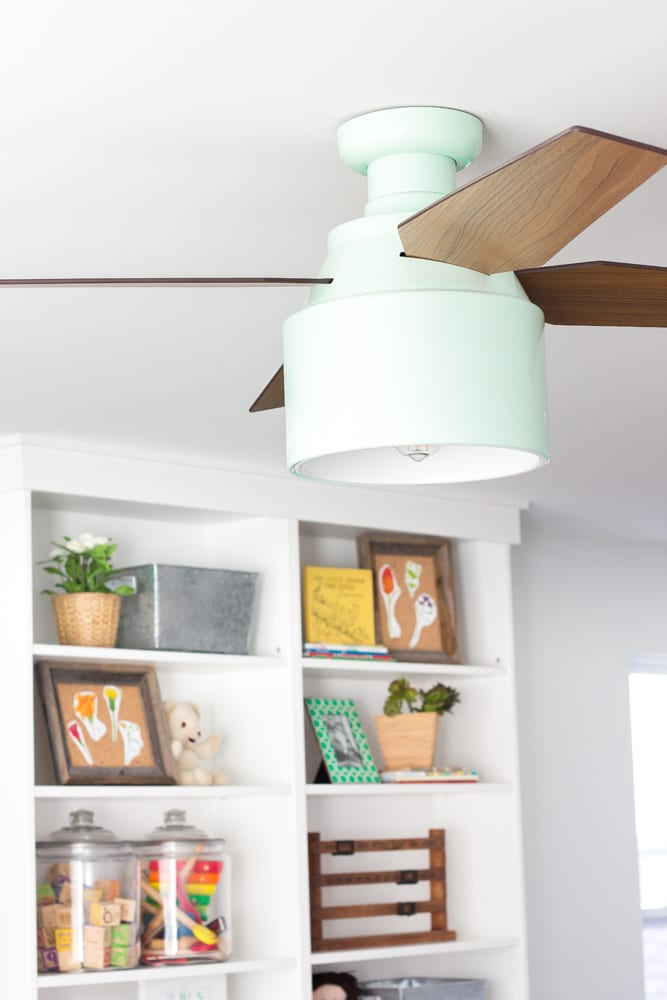 Eclectic Farmhouse Playroom Makeover   blesserhouse.com - A boring and cluttered playroom gets a modern eclectic farmhouse makeover on a budget with DIY projects, smart storage solutions, and inexpensive finds. popular pin