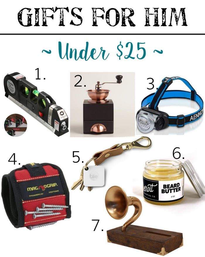 Holiday Gift Guide - Gifts for Him Under $25 | blesserhouse.com - Gift ideas for men and women of all ages for all budgets plus a $300+ giveaway!