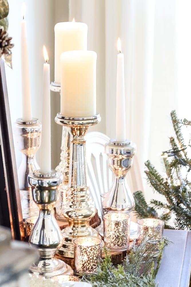 A Shopping Guide Round Up With Some Of The Best Mercury Glass Decor Pieces  For