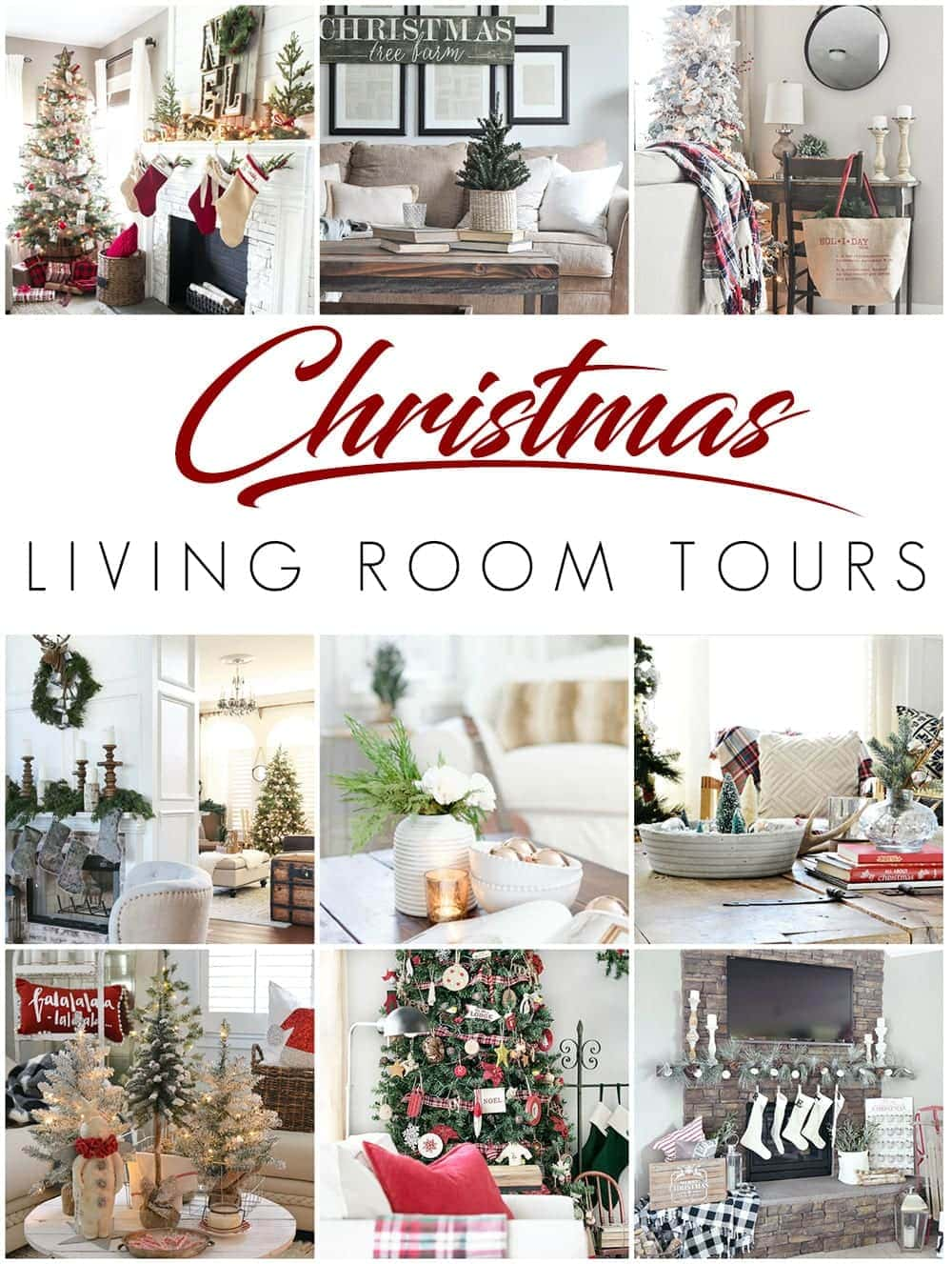 Cozy Christmas Living Room Tour - Bless\'er House