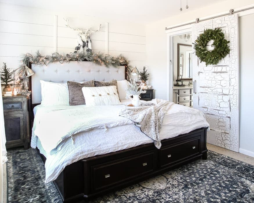 White Christmas Bedrooms | Blesserhouse.com   A Winter White Christmas  Bedroom Tour With Soft