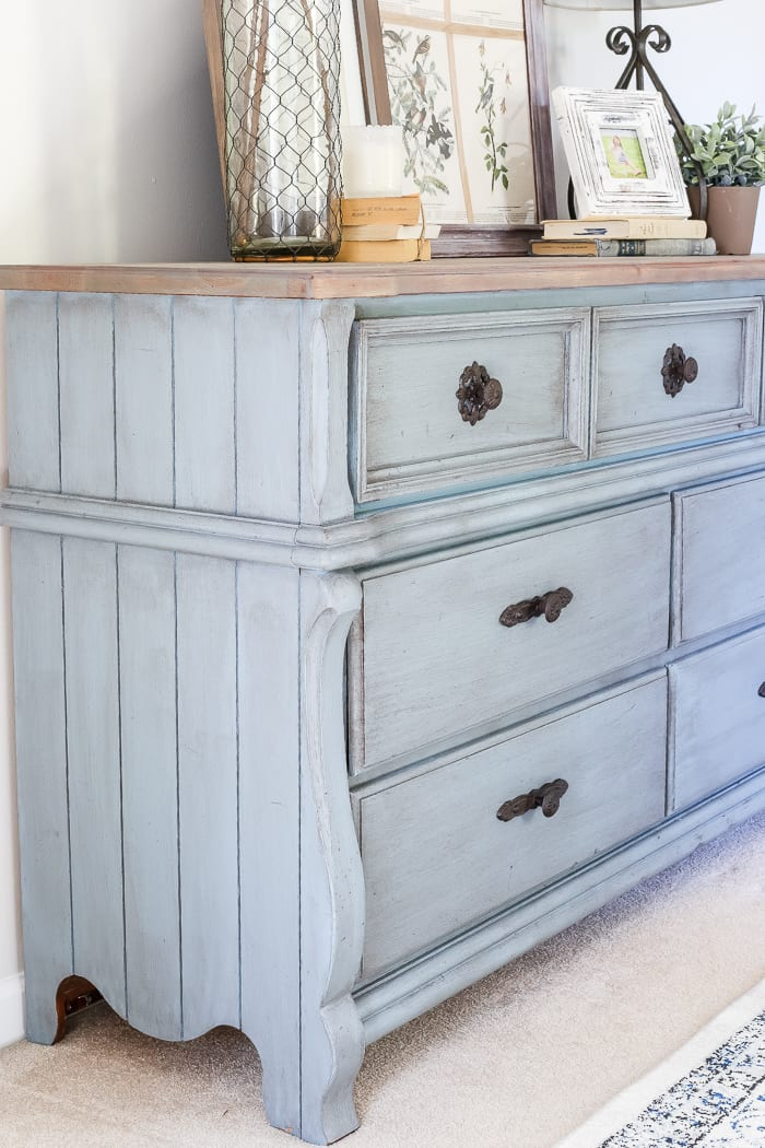 french blue dresser makeover. Black Bedroom Furniture Sets. Home Design Ideas