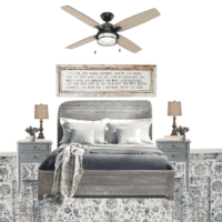 Blue Cottage Guest Bedroom Makeover Plans