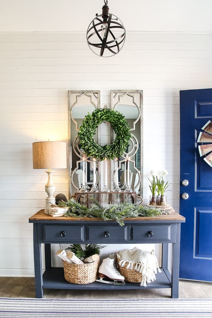 Foyer Door Decorating : After christmas winter foyer decorating ideas