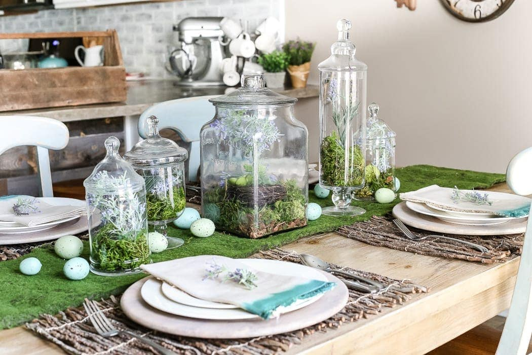 Apothecary Jar Terrarium Easter Centerpiece Bless Er House