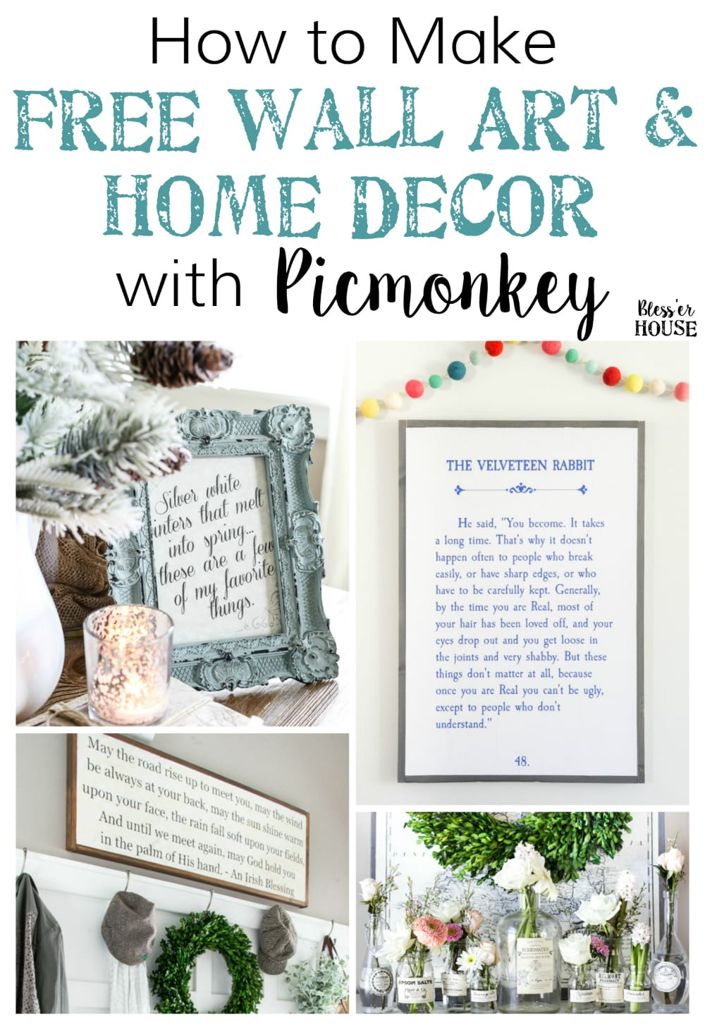 how to create free wall art and home decor with picmonkey blesserhousecom - Home Decor Photos Free