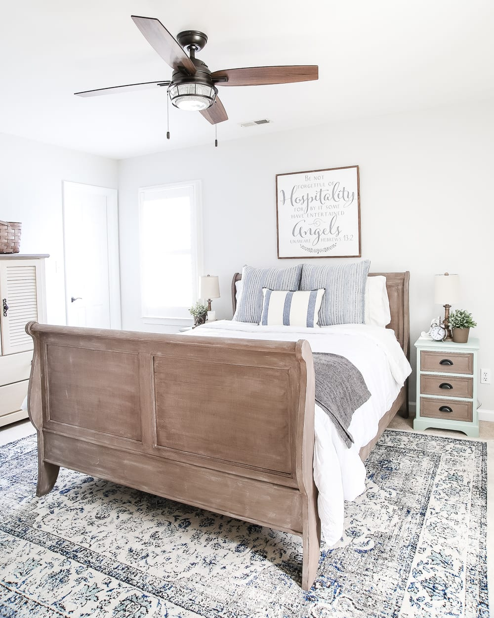 Painted Weathered Wood Bed Makeover Bless 39 Er House