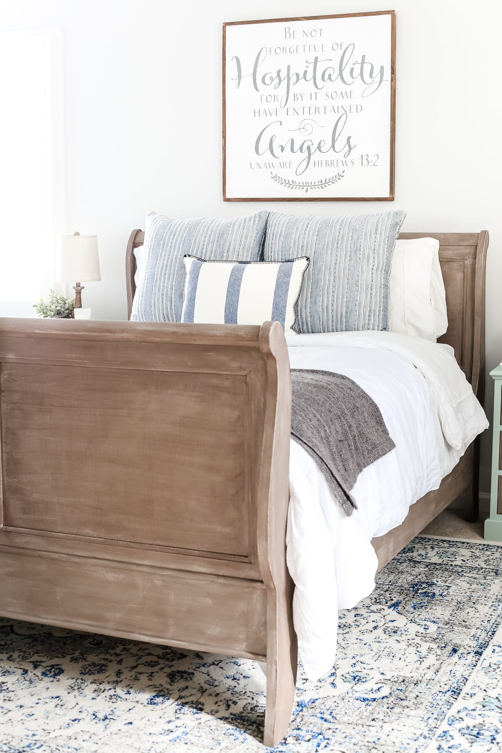 Painted Weathered Wood Bed Makeover Bless Er House