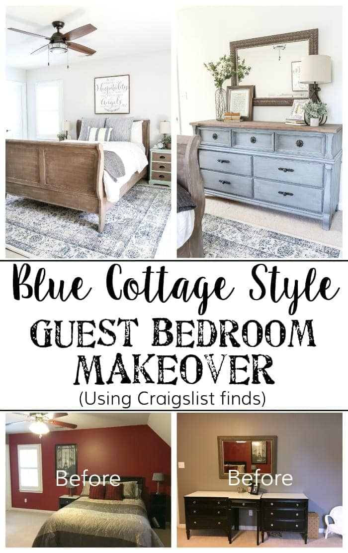 Blue Cottage Style Guest Bedroom Makeover Reveal Bless 39 Er House