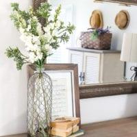 Blue Cottage Style Guest Bedroom Makeover Reveal