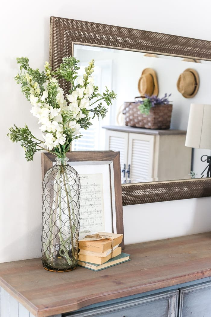 Fashion Inspired Guest Room: Blue Cottage Style Guest Bedroom Makeover Reveal