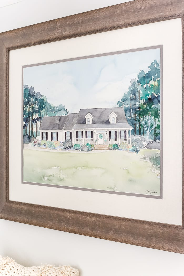 The Best Resource to Hire Out Custom Art + A Watercolor Portrait | blesserhouse.com - A watercolor house portrait and a fast and simple way to hire an artist for a custom portrait, plus a resource for finding the best artists for all budgets.