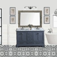 Lowe's Makeover Before and Bathroom Design Plan