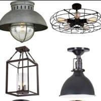 20 Vintage Inspired Flush Mount Lights on a Budget