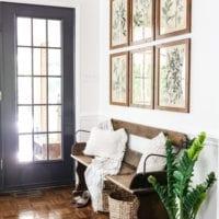 Botany Printable Art and a Wall Decor Hanging Trick