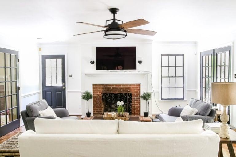 Living Room Update: Ceiling Fan Swap