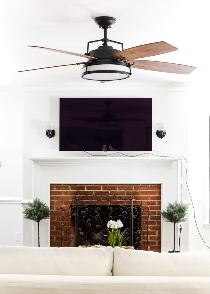 living room update ceiling fan swap bless 39 er house. Black Bedroom Furniture Sets. Home Design Ideas