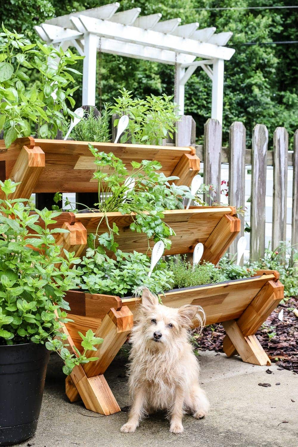 DIY Wooden Spoon Garden Markers   blesserhouse.com - A simple tutorial for how to craft your own vintage-inspired garden markers made from wooden spoons, plus a resource for a beautiful stacked herb garden.
