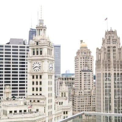 Chicago Inspired Aqua Meets Urban Bathroom Design