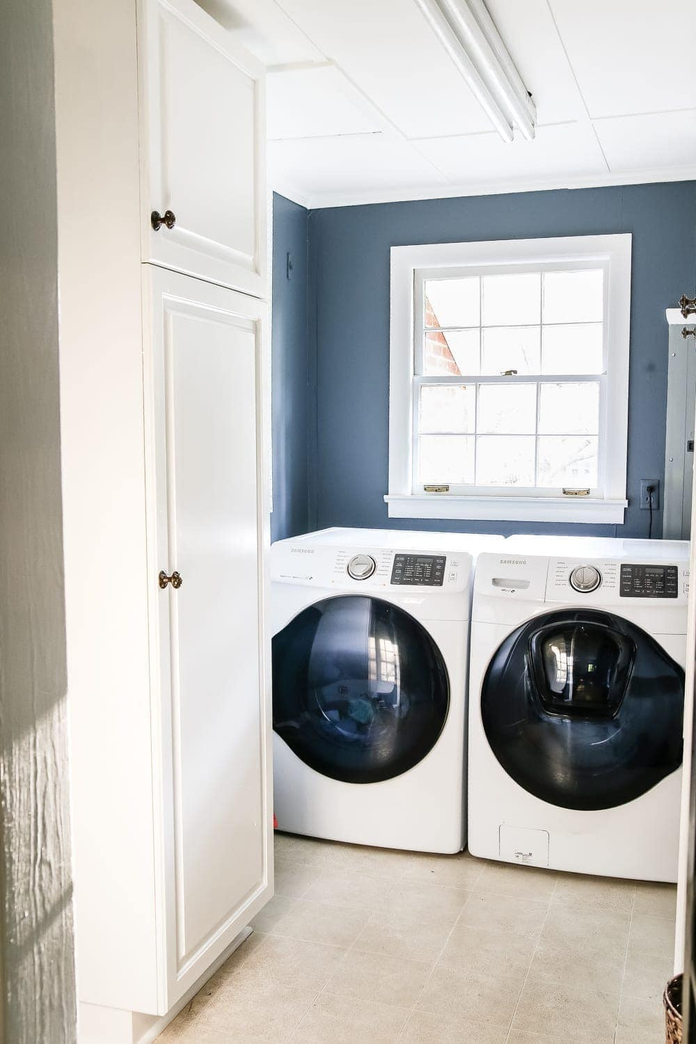 Superior Laundry Room Updates: French Bifold Door | Blesserhouse.com   A Rickity Laundry  Room
