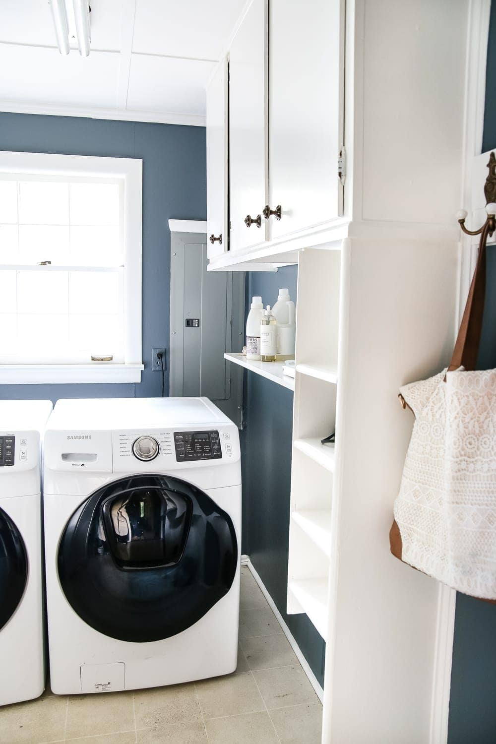 Laundry Room Updates: French Bifold Door | Blesserhouse.com   A Rickity Laundry  Room