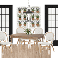 Rustic Parisian Breakfast Nook Design Plan