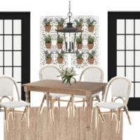 Rustic Parisian Breakfast Nook Design Plan