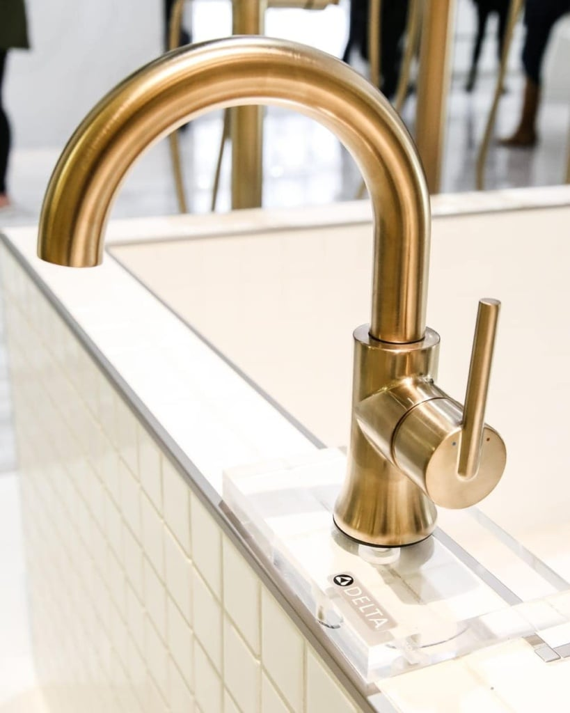Chicago Inspired Aqua Meets Urban Bathroom Design   blesserhouse.com - A travel recap in Chicago with Delta Faucet, Young House Love, and a team of bloggers to incorporate urban architecture in bathroom designs.