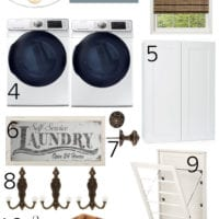 Navy and White Laundry Room Plans