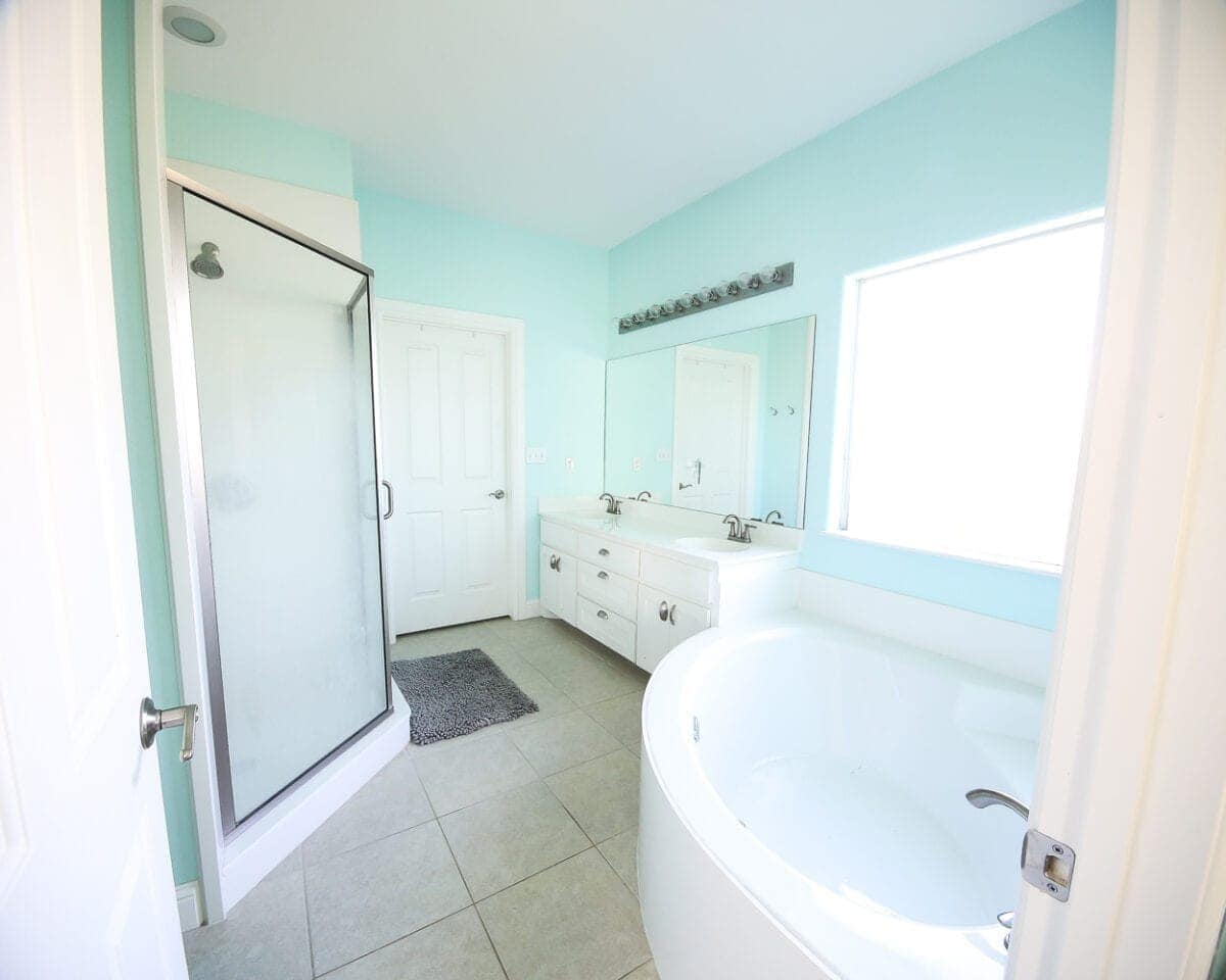 Loweu0027s Spring Makeover Bathroom Reveal | Blesserhouse.com   A Team Of 6  DIYers Take