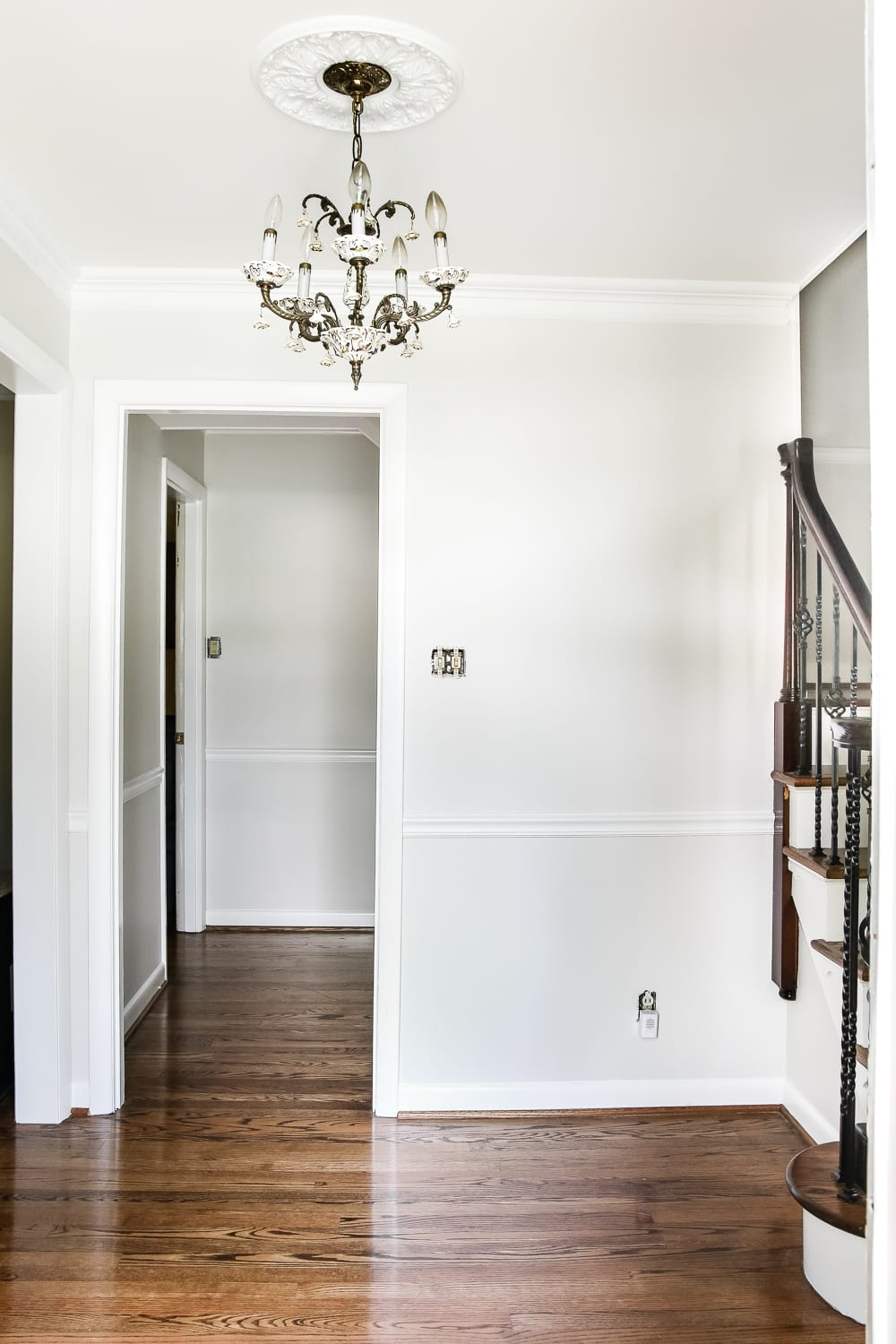 Neutral Foyer Paint Colors : Neutral painted foyer update bless er house