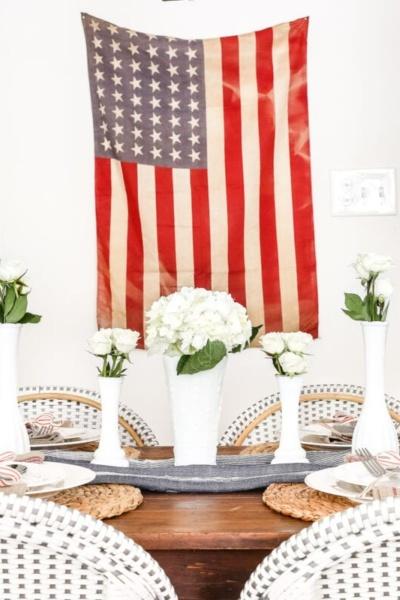 Vintage Patriotic Tablescape & Summer Entertaining Tour