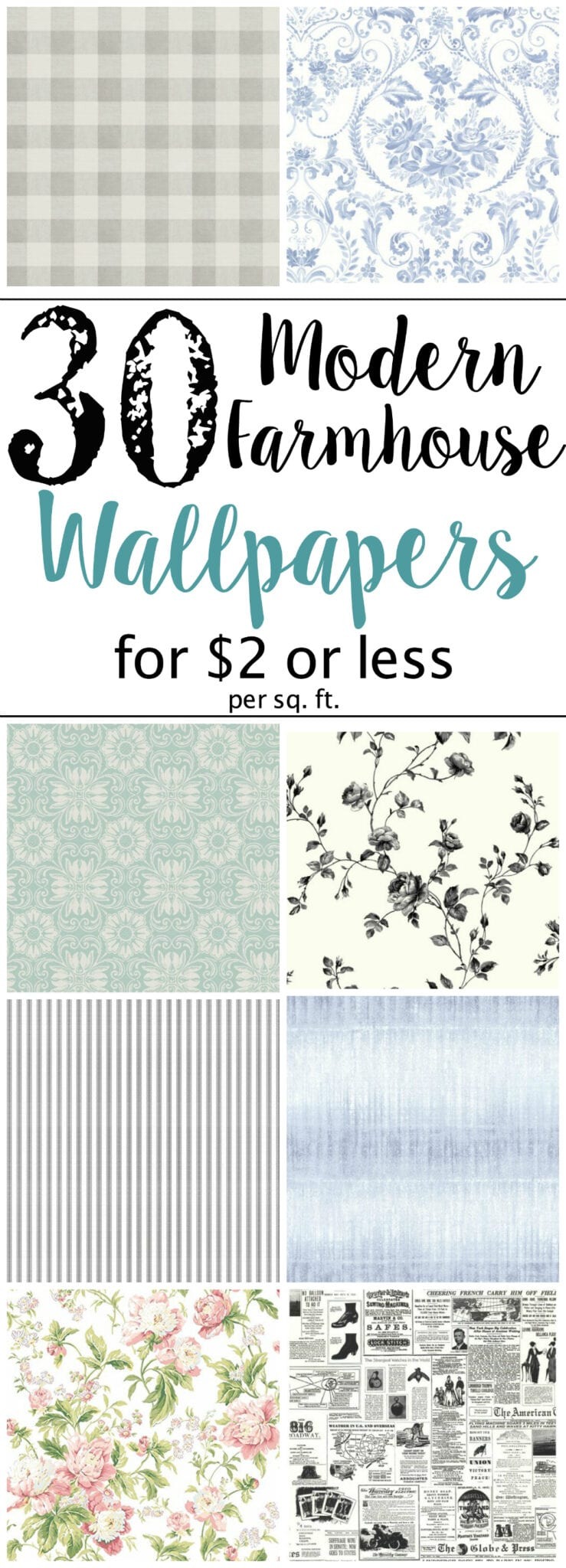The best modern farmhouse wallpaper designs on a budget for Best modern farmhouse plans